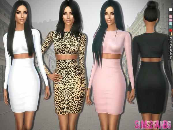 The Sims Resource: 282   Kim Kardashian Dress by sims2fanbg