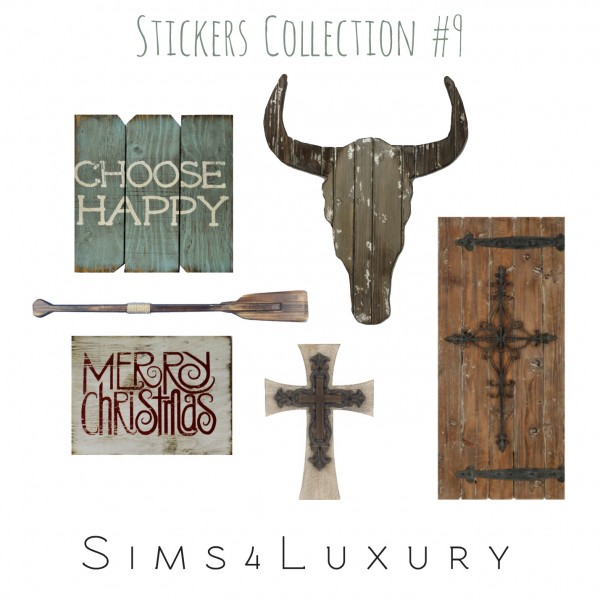 Sims4Luxury: Stickers Collection 9