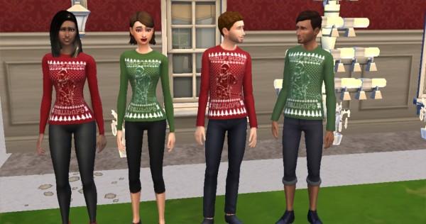 Mod The Sims: Sickly Sweet Holidays   Dallon Weekes Simlish Christmas Sweater by KaraStars