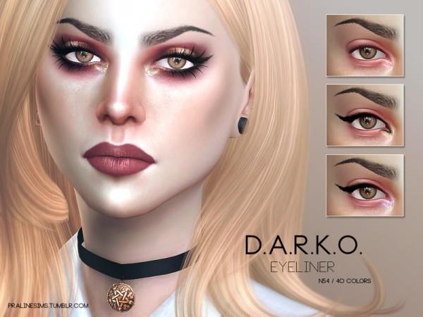 The Sims Resource: D.A.R.K.O. Eyemakeup Duo