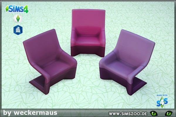 Blackys Sims 4 Zoo: My stitches Magenta Chair by weckermaus