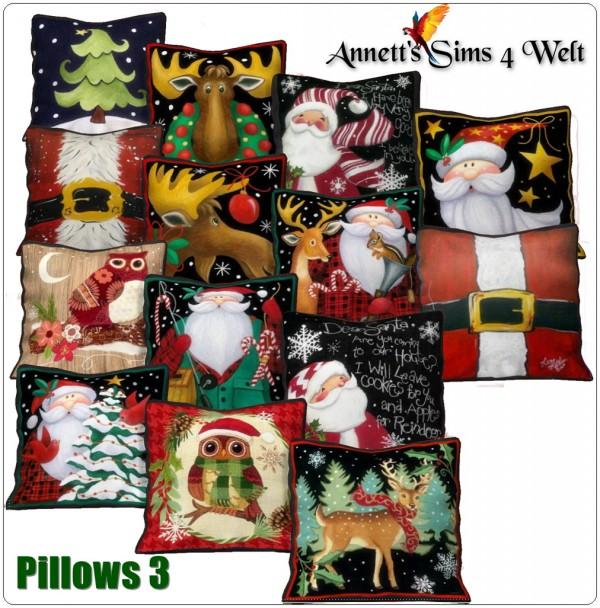 Annett`s Sims 4 Welt: Christmas Pillows