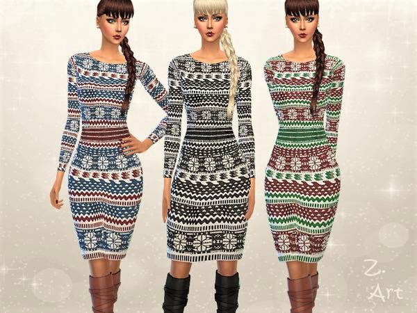 The Sims Resource: Winter CollectZ. VIII dress by Zuckerschnute20
