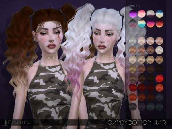 The Sims Resource: LeahLillith`s Candycotton Hair