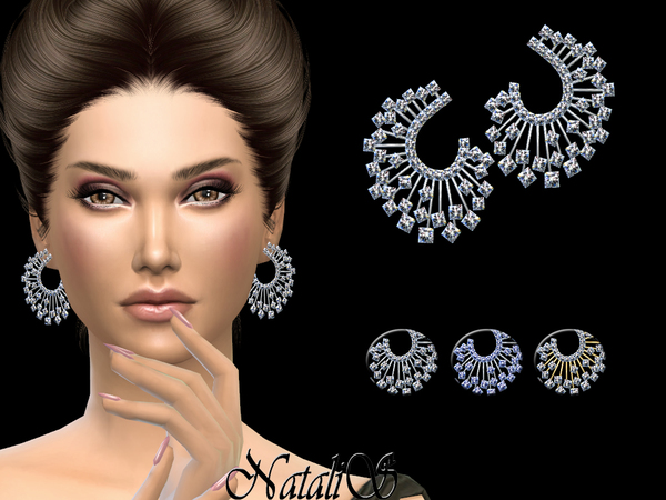 The Sims Resource: Winter crystals earrings by NataliS