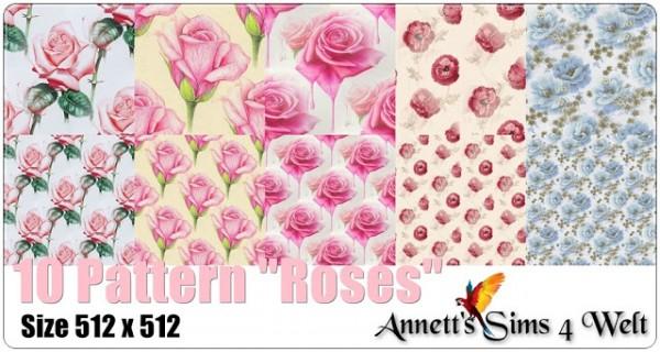 Annett`s Sims 4 Welt: 10 Pattern Roses