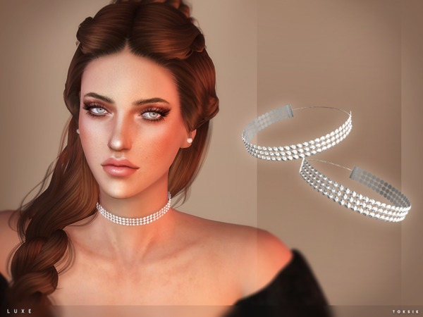 The Sims Resource: Luxe choker by toksik