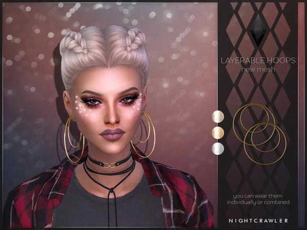 The Sims Resource: Nightcrawler   Layerable Hoops