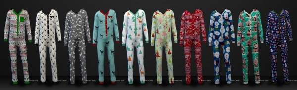 Onyx Sims: Holiday Pajamas for all