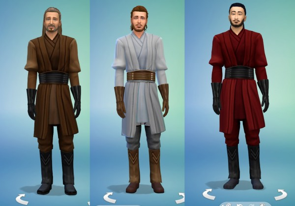 Mod The Sims: Star Wars Jedi Darth Maul dresses by lioness21