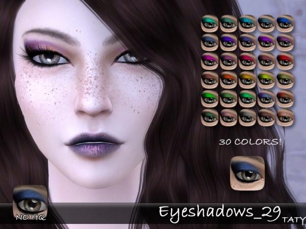 Simsworkshop: Eyeshadows 29 by Taty