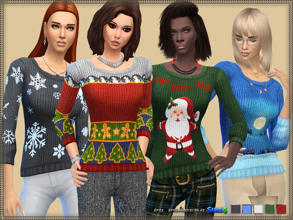 The Sims Resource: Holiday Sweater by Bukovka