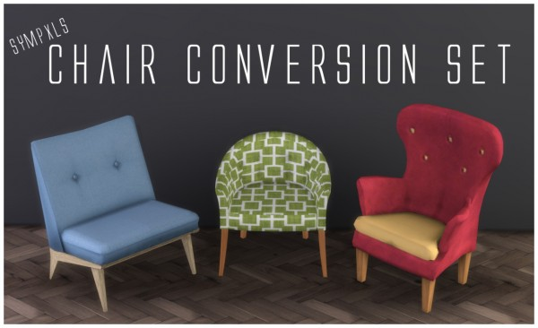 Simsworkshop: Chairs converted by Sympxls
