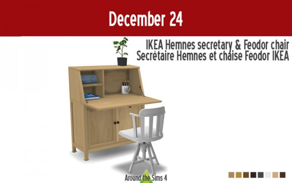 Around The Sims 4: Hemnes secretary and Feodor chair