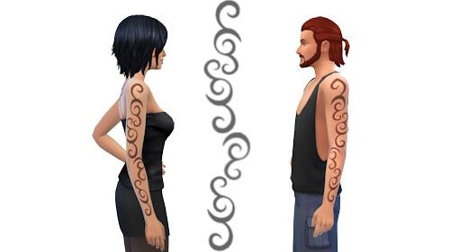 La Luna Rossa Sims: Just Lines on the Arm Tattoo