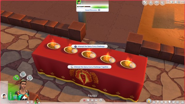 Mod The Sims: Curry Challenge Table by VentusMatt