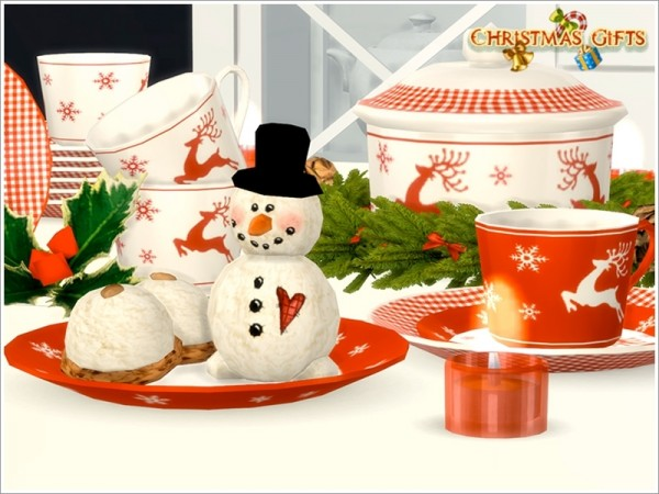 The Sims Resource: Christmas Dishes by Severinka