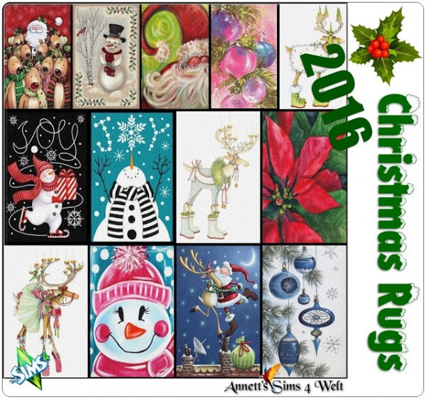 Annett`s Sims 4 Welt: Christmas rugs