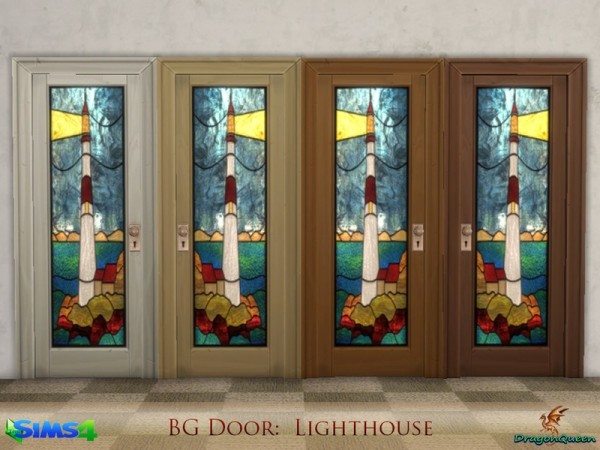 The Sims Resource: Door Set: Parrots & Lighthouse by DragonQueen