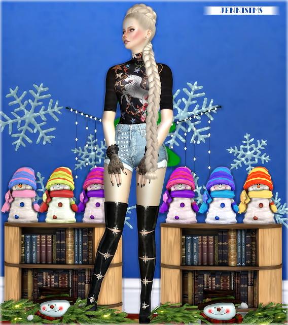 Jenni Sims: Decoratives XmasDinner Snowmans Vol5