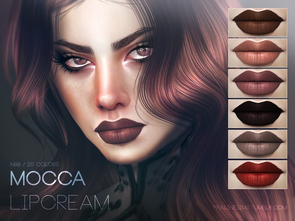 The Sims Resource: Mocca Lipstain N98