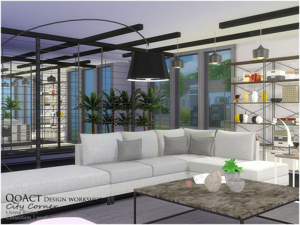The Sims Resource City Corner Living Room By Qoact Sims
