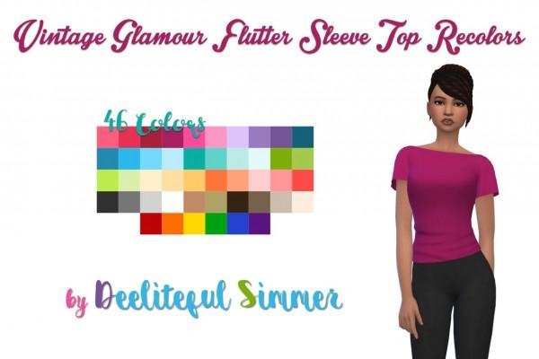 Deelitefulsimmer: Vintage Glamour sleeve top recolor