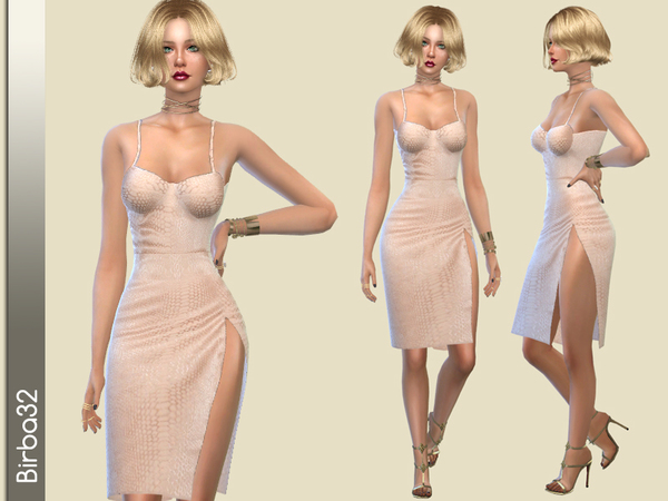 The Sims Resource: Alexandra dress by Birba32
