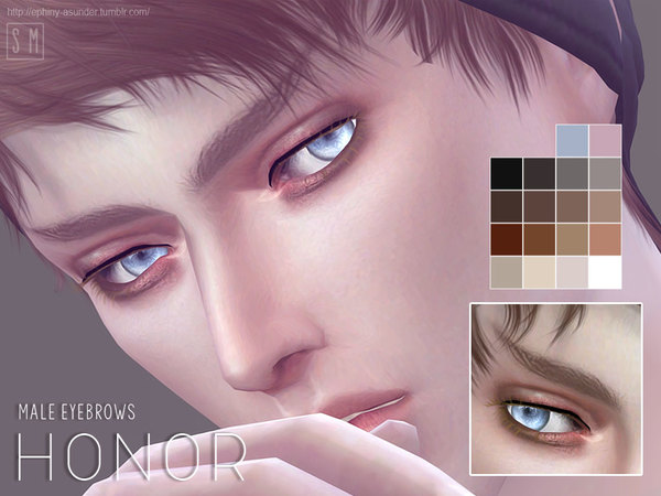 The Sims Resource: Honor   Male Brows by Screaming Mustard