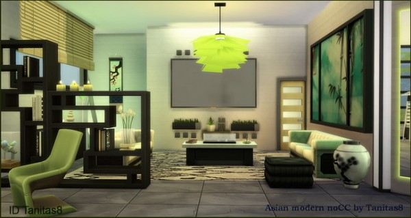 Tanitas Sims: Asian modern house no CC