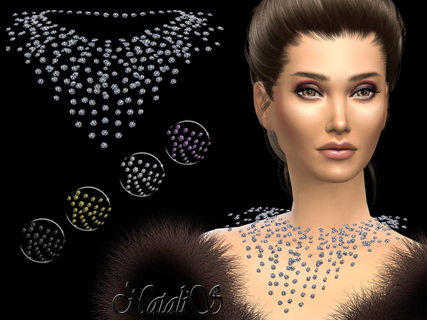 The Sims Resource: Rhinestone crystal necklace by NataliS