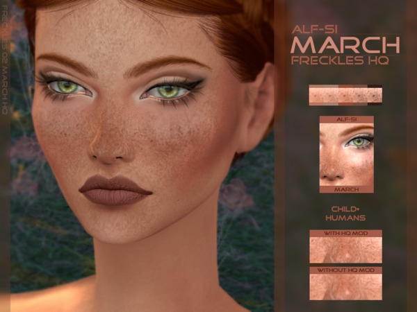 The Sims Resource: March   Face Freckles HQ by Alf Si