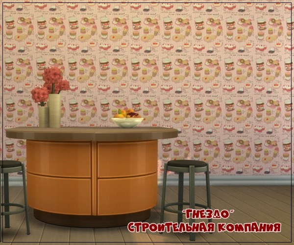 Sims 3 by Mulena: Wallpaper for home Sweets