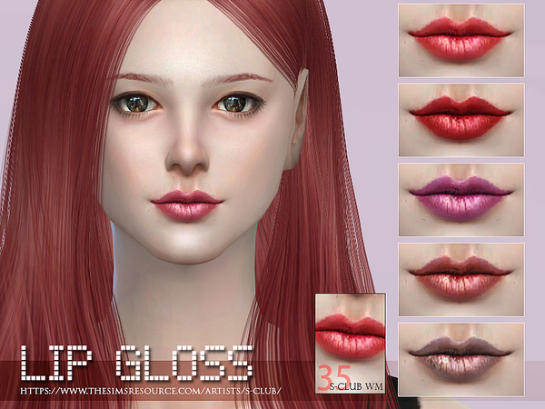The Sims Resource: Lipstick 35 by S Club