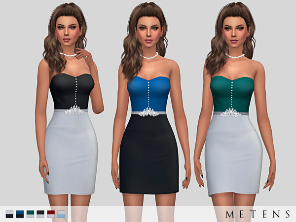 The Sims Resource: Rosaleigh Dress by Metens