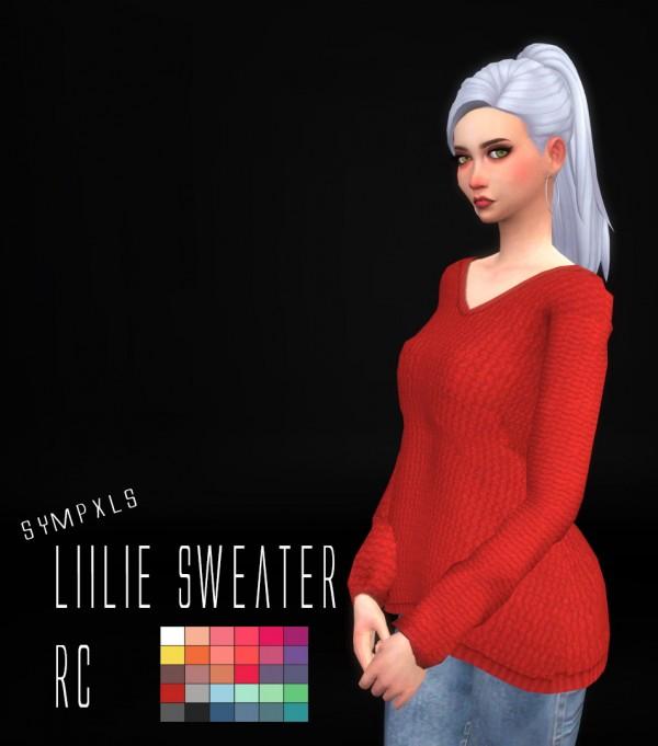 Simsworkshop: Lilie Sweater RC by Sympxls