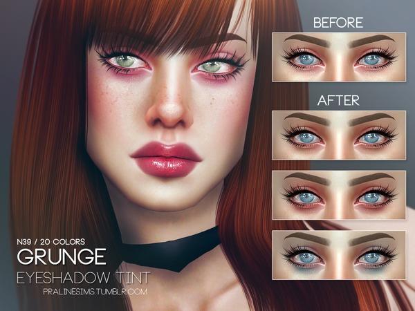 The Sims Resource: Grunge Eyeshadow Tint by Pralinesims