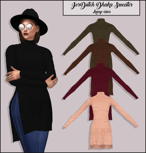 LumySims: Jordutch's Dhaka Sweater
