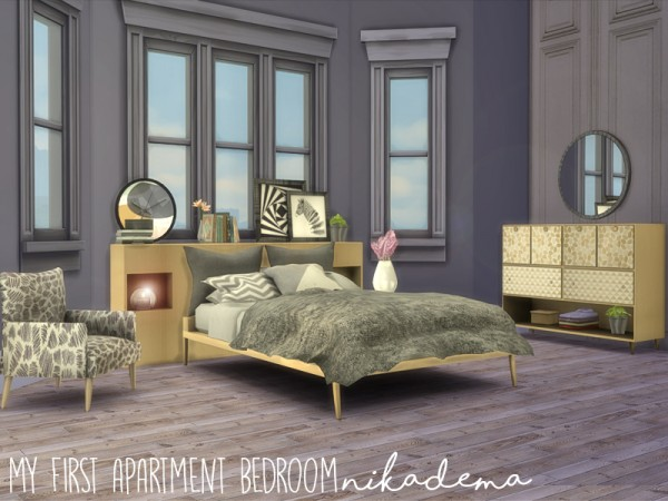 The Sims Resource My First Apartment Bedroom By Nikadema