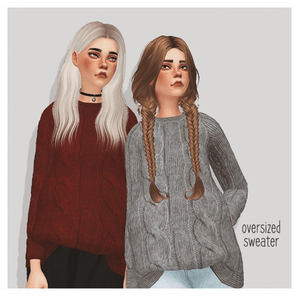 Pure Sims: Oversized sweater