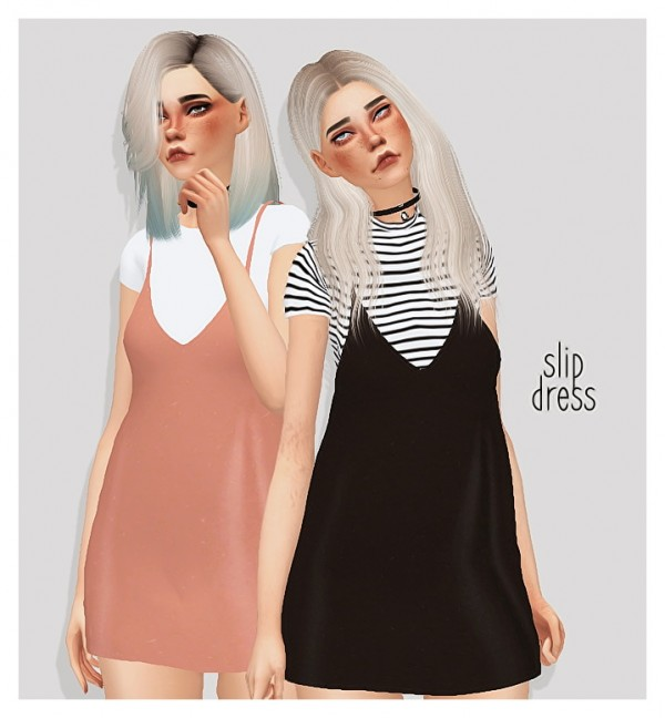 Pure Sims Slip Dress Sims 4 Downloads