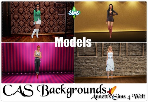 Annett`s Sims 4 Welt: CAS Backgrounds Models