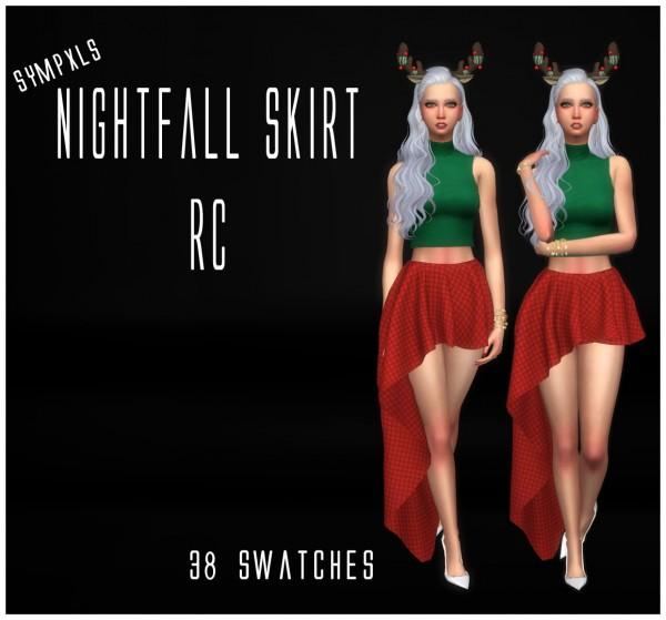 Simsworkshop: Nightfall Skirt RC by Sympxls