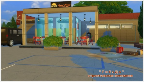 Sims 3 by Mulena: Cafe car tire
