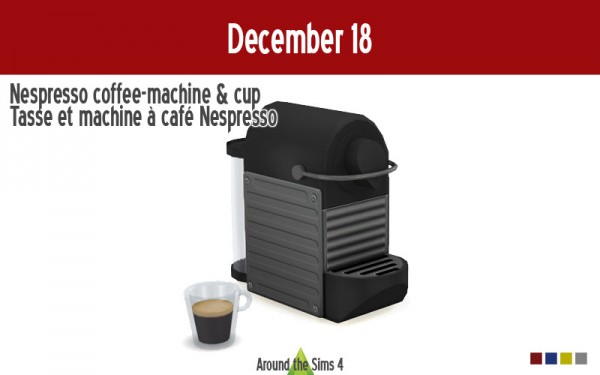 Around The Sims 4: Nespresso coffee&cup machine