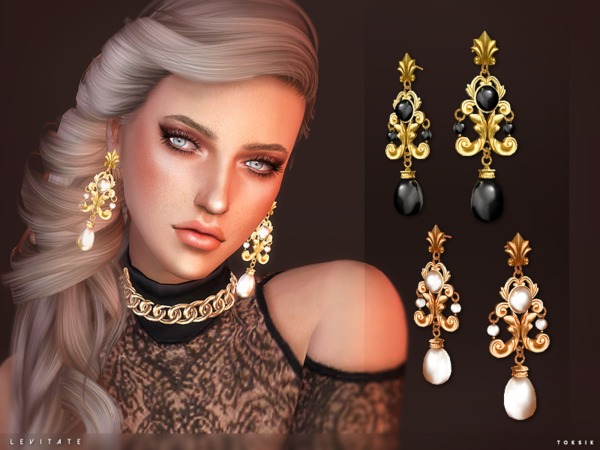 The Sims Resource: Levitate earrings by toksik
