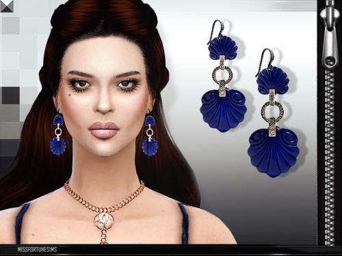 MissFortune Sims: Shell Earrings