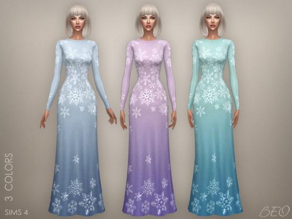 BEO Creations: Snowflake long dress