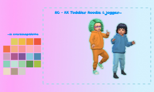 Chillis Sims: Toddler Hoodie and Joggers