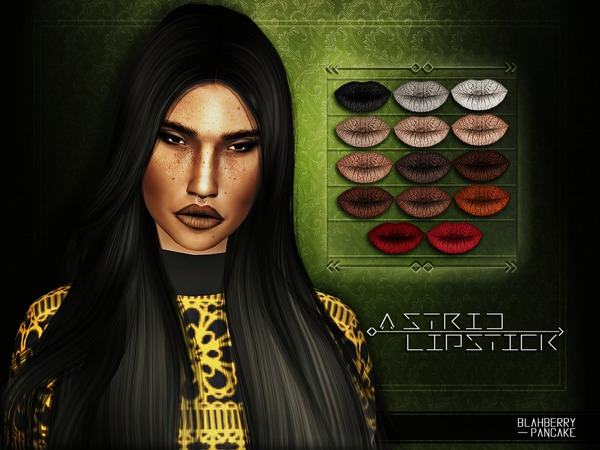 The Sims Resource: Astrid Lipstick by BlahberryPancake